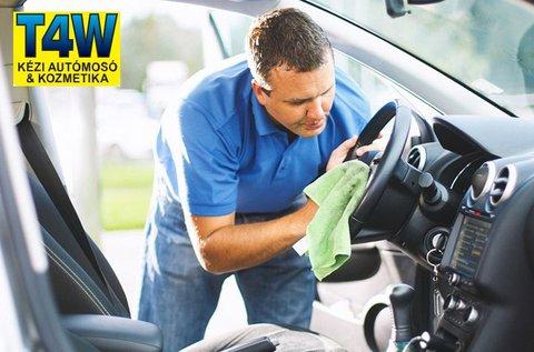Külső-belső autótisztítás professzionális termékekkel