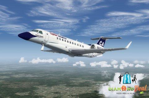 Izgalmas repülőgép szimulátor vezetés