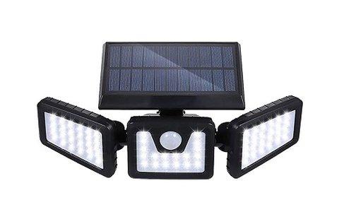 Elforgatható napelemes lámpa mozgásérzékelővel
