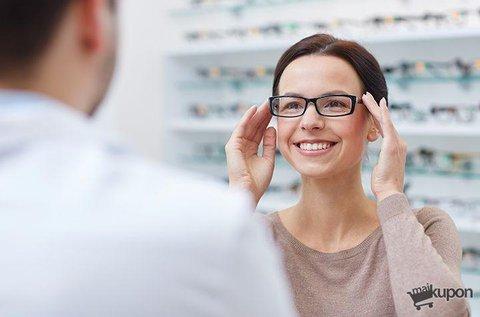 Vékonyított lencsés szemüveg látásvizsgálattal