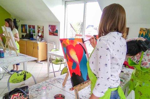 Élményfestés híres festők műveinek újraalkotásával