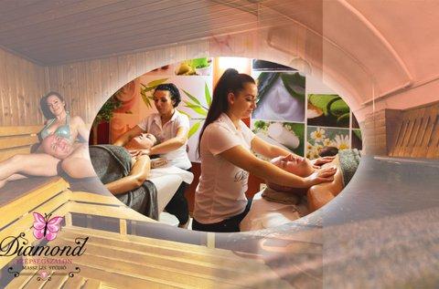 120 perces páros pihenés masszázzsal, wellnesszel