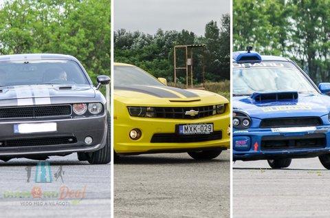 Impreza WRX, Camaro vagy Challenger vezetés