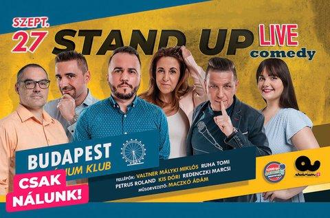 Live stand up comedy estek az Akvárium Klubban