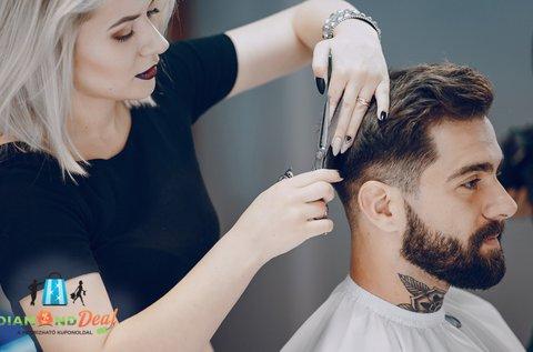 Férfi hajvágás géppel és ollóval a divatos frizuráért