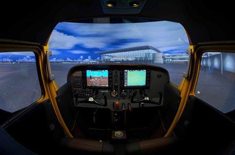 40 perc Cessna 172 repülőgép szimulátorozás