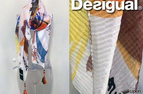 Eredeti Desigual színes pliszírozott női kendő