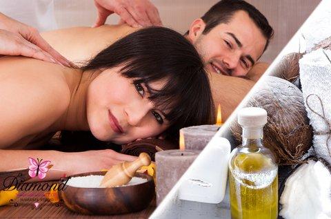 Relaxáló kókuszolajos masszázs 2 főnek
