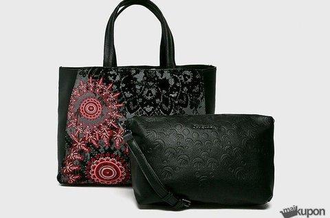 Eredeti Desigual fekete hímzett táska
