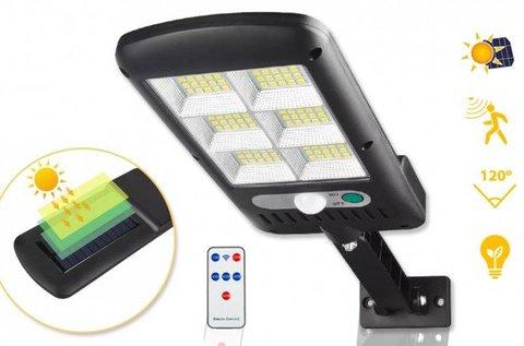 Napelemes LED kültéri mozgásérzékelős fali lámpa