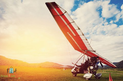 30 perc élményrepülés motoros sárkányrepülővel