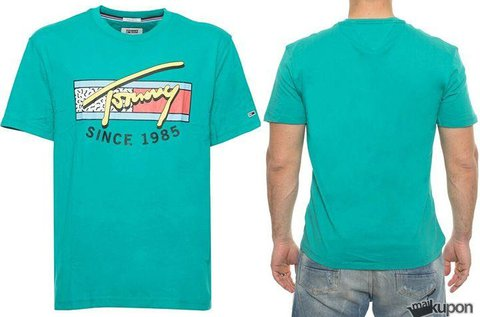 Tommy Jeans férfi póló zöld színben