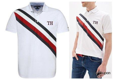Tommy Hilfiger Stripes férfi galléros póló