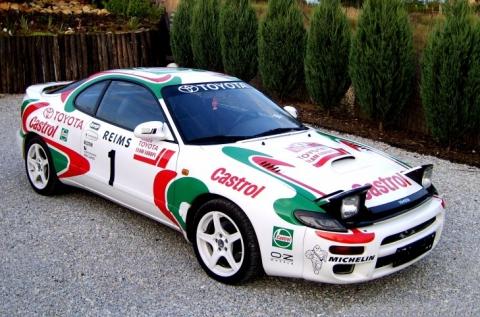 10 körös autózás egy Toyota Celica versenyautóval