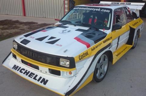 3 körös vezetés egy Audi S1 rally autóval