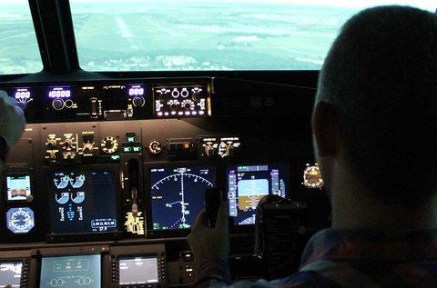40 perc repülés egy Boeing repülőgép szimulátorral