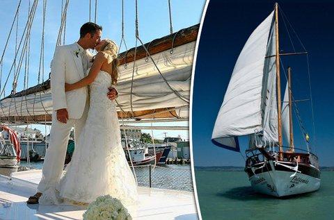 Balatoni esküvő egy yacht fedélzetén