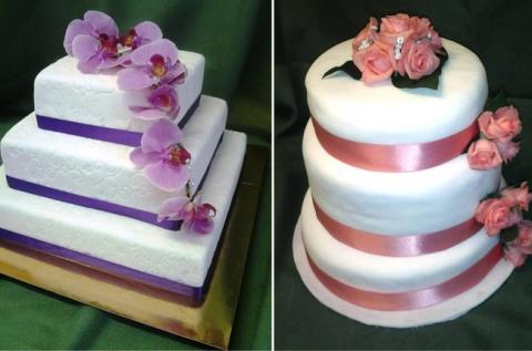 3 emeletes esküvői torta 3 emeletes, 50 szeletes esküvői menyasszonyi torta 25.000 Ft  3 emeletes esküvői torta