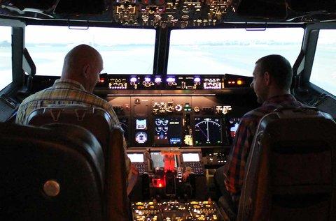 1 órás szimulátoros repülés egy Boeing 737-tel