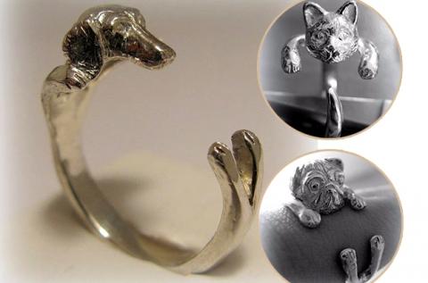 Állati ezüst gyűrűk méretre igazítható kialakítással