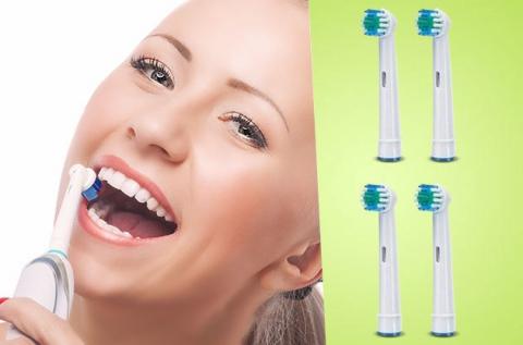 Oral-B és Braun kompatibilis elektromos fogkefe fej