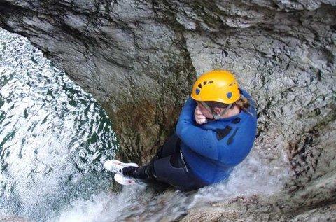 Izgalmas kanyoning túra Szlovéniában, Bovec mellett