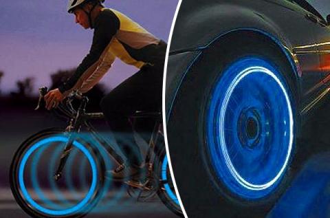 1 pár világító szelepsapka kerékpárhoz, motorhoz