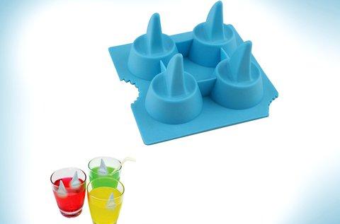 4 db-os cápauszony formájú jégkocka készítő