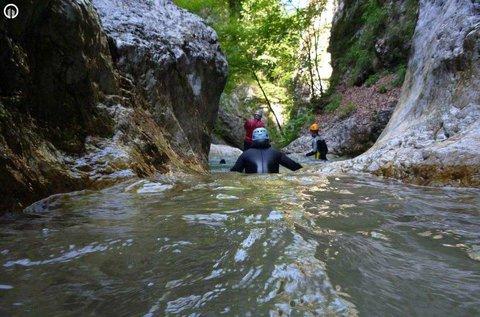 Dupla kanyoning túra a szlovéniai Bovec-nél