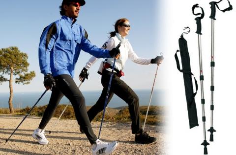 1 pár Nordic Walking állítható méretű sétabot