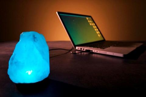 Himalája kristálysólámpa USB csatlakozóval