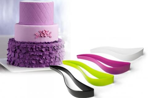 Torta szervírozó kés 4 különböző színben