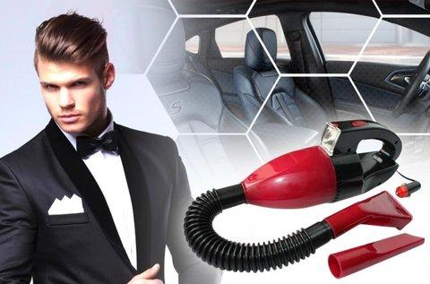 Vacuum Cleaner autós kézi porszívó bordó színben