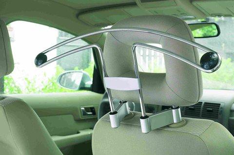 Autóba szerelhető vállfa krómozott acélból