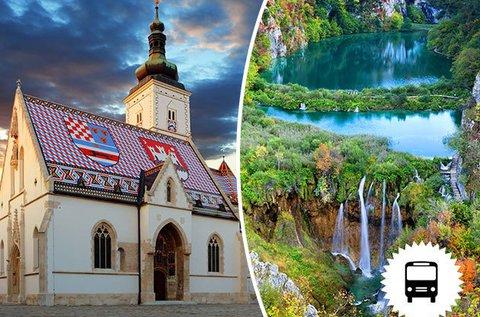 Kirándulás Zágrábba és a mesés Plitvicei-tavakhoz