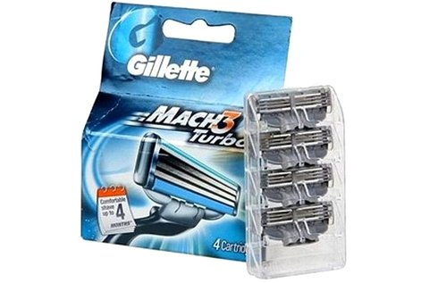 2x4 db Gillette Mach3 Turbo kompatibilis borotvafej