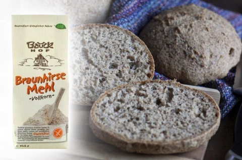 Bio gluténmentes teljes kiőrlésű barna kölesliszt