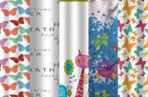 Prémium zuhanyfüggönyök több mintával