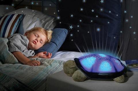Világító teknős csillagkép vetítéssel