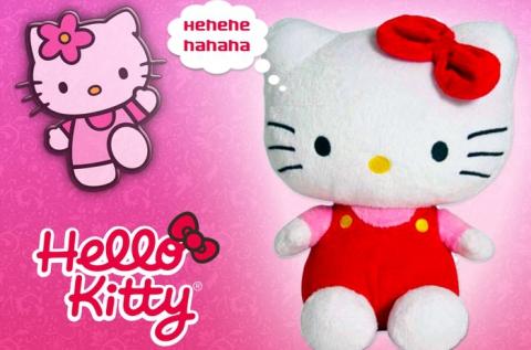 Hello Kitty nevetős plüssfigura kislányoknak