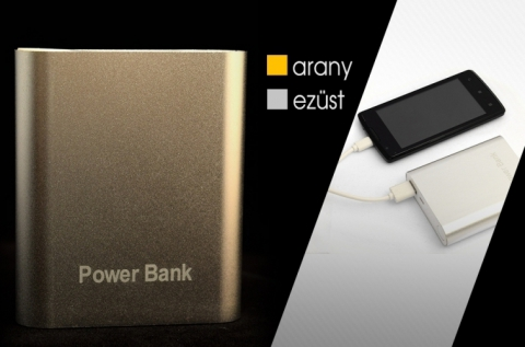 20000 mAh-s Power Bank Platinum mobiltöltő