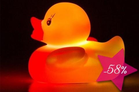 Különböző színekben világító LED gumikacsa