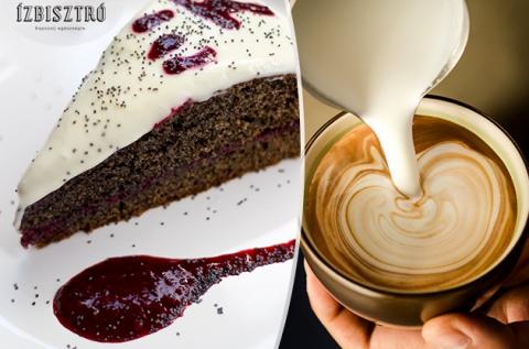 Választható tortaszelet + kávé vagy shake 2 főre