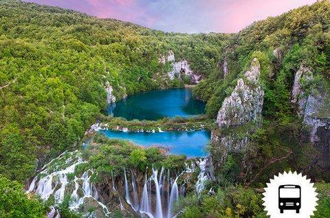 Buszos utazás a lenyűgöző Plitvicei-tavakhoz