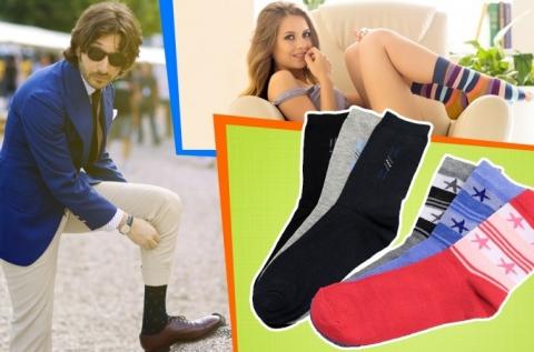 15 pár női és férfi zokni több méretben