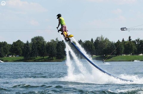 15 perces vízidongózás 2 fő részére az Omszki-tónál