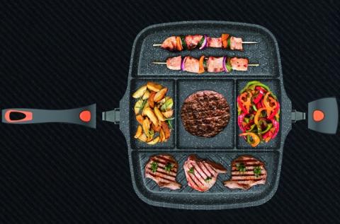 Berlinger Haus 5 részre osztott grill serpenyő