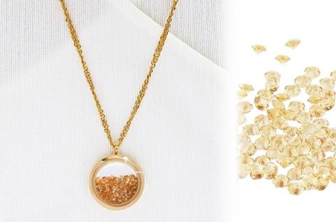 Egyedi arany nyaklánc nyitható medállal