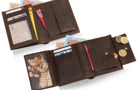 Wikd Style barna, valódi bőr pénztárca