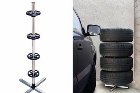 Praktikus keréktartó állvány 4 szerelt kerékhez